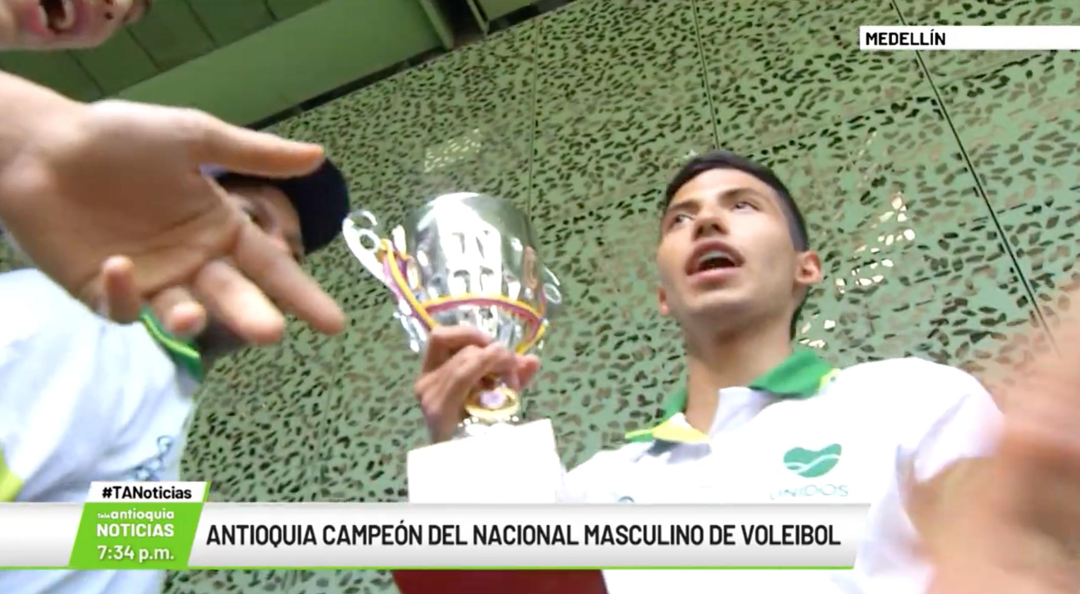 Antioquia campeón del nacional masculino de voleibol