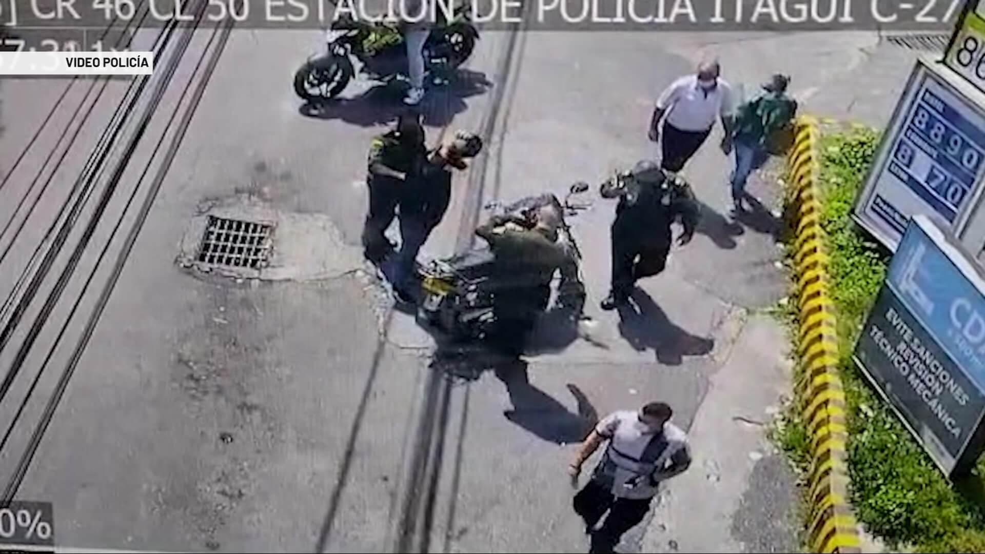 Cuatro capturados y tres motos recuperadas