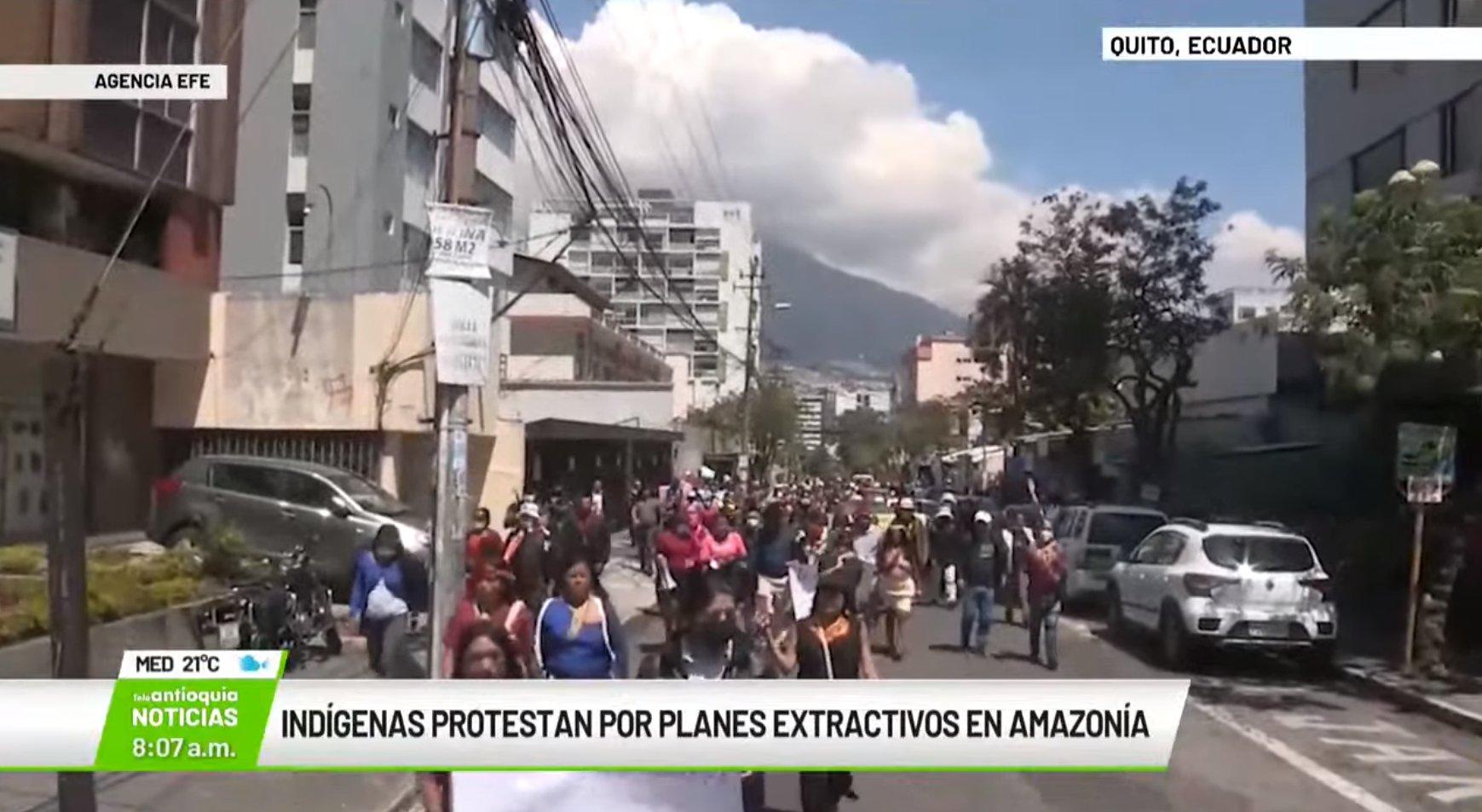 Indígenas protestan por planes extractivos en Amazonía