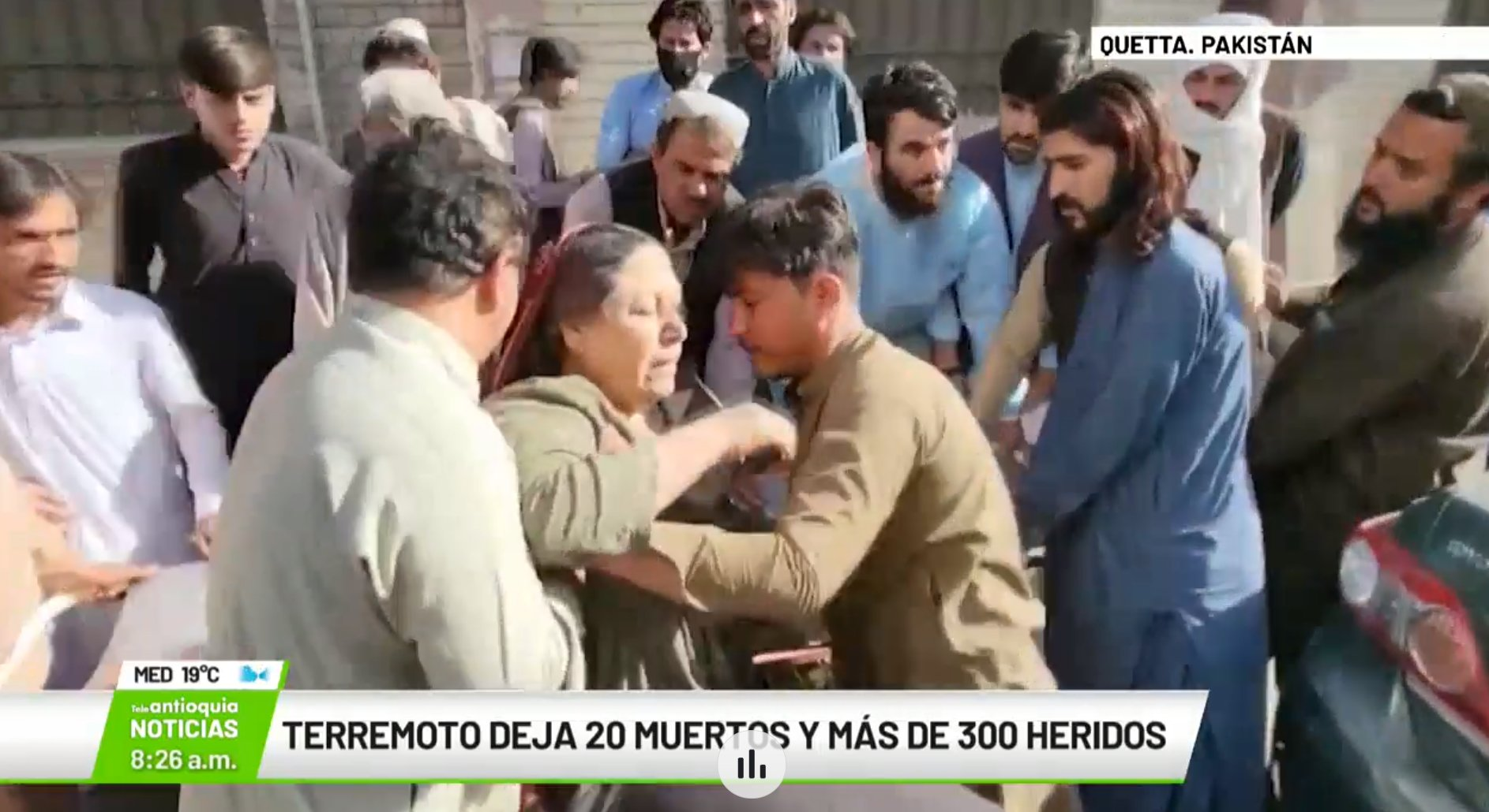 Terremoto deja 20 muertos y más de 300 heridos