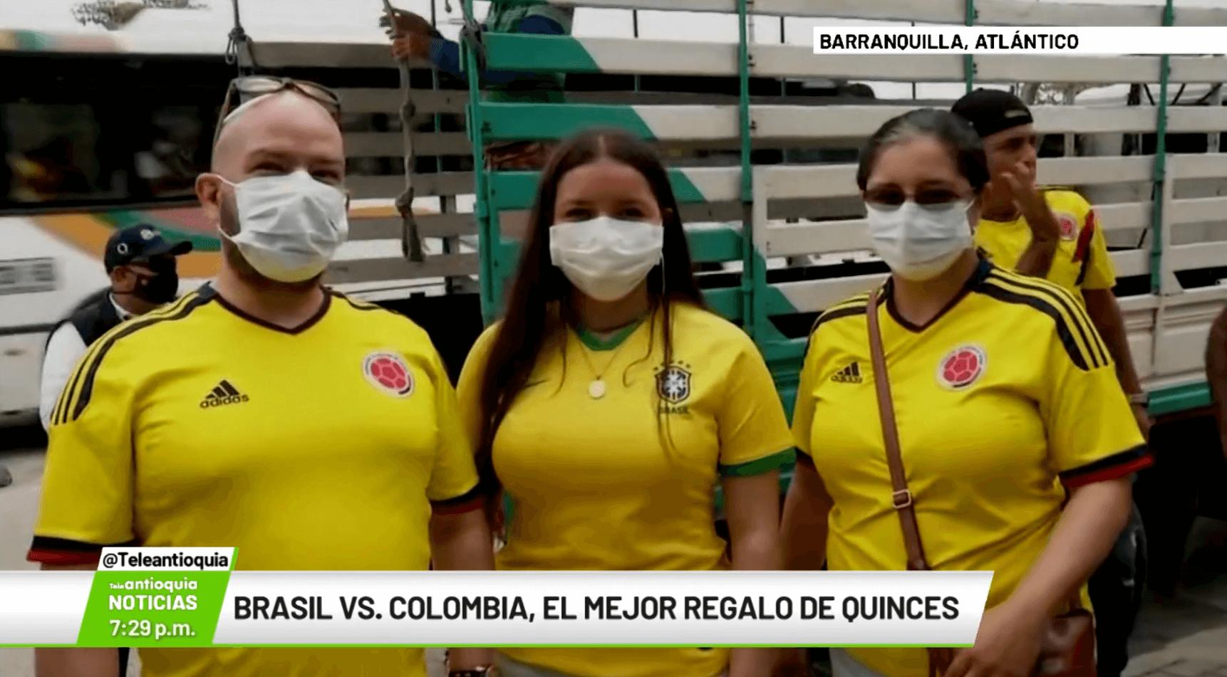 Brasil vs. Colombia, el mejor regalo de quinces