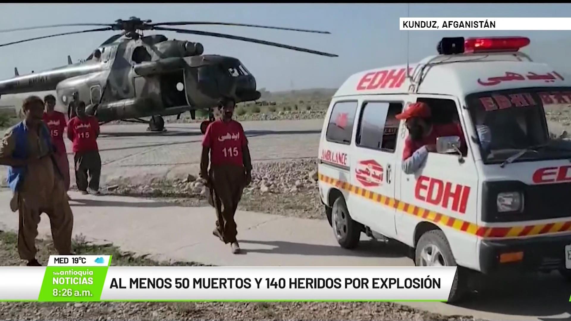 Al menos 50 muertos y 140 heridos por explosión