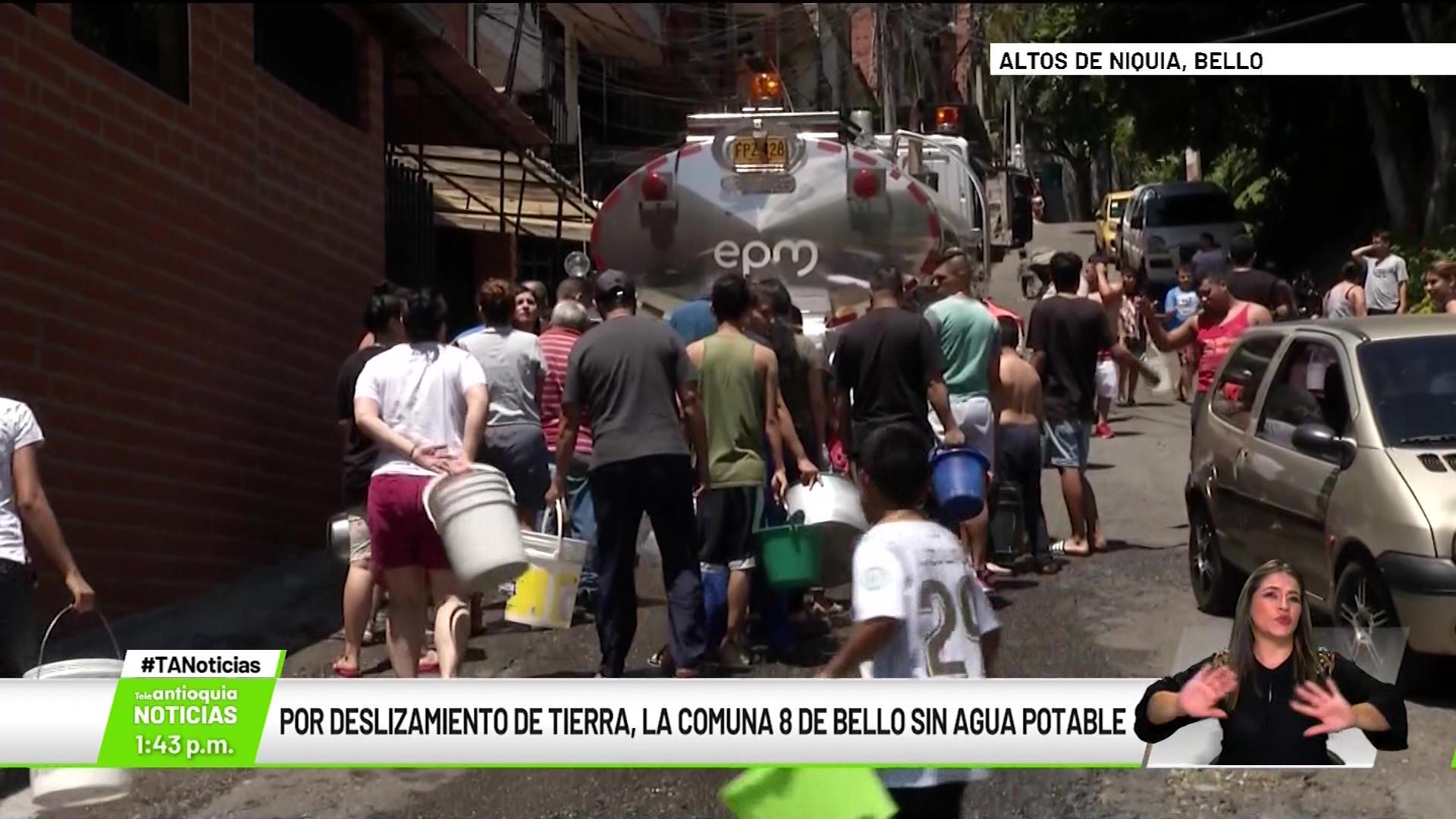 Por deslizamiento de tierra, la Comuna 8 de Bello sin agua potable