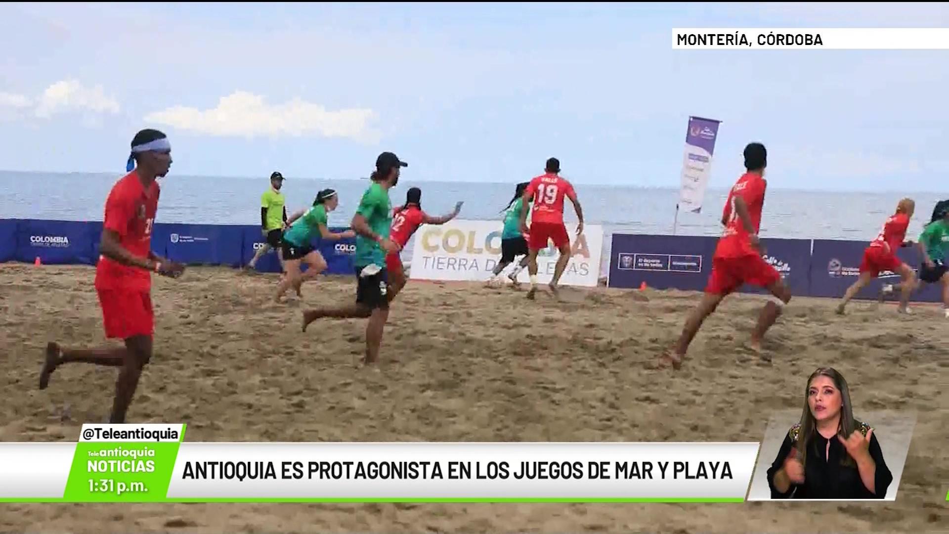 Antioquia es protagonista en los juegos de mar y playa