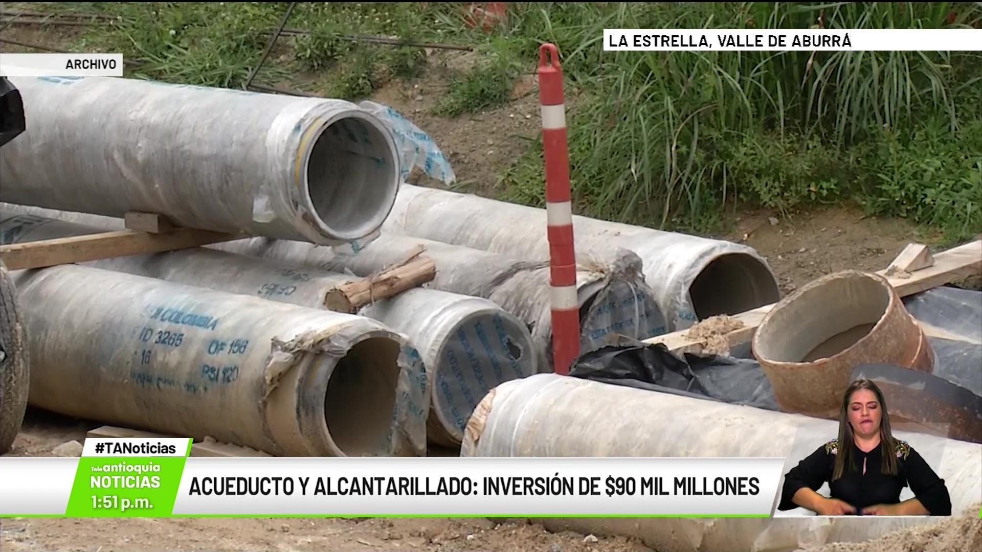 Acueducto y alcantarillado: inversión de $90 mil millones de pesos